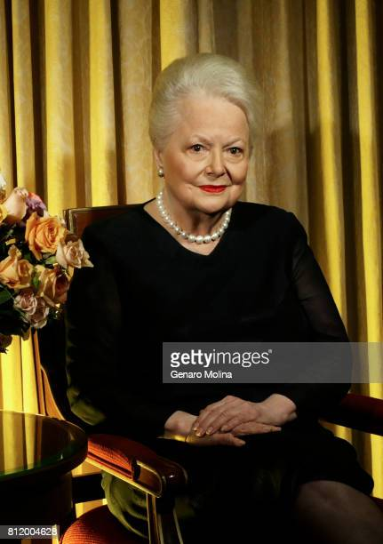 Actress Olivia De Havilland is photographed for Los Angeles Times on September 15 2004 in Los Angeles California