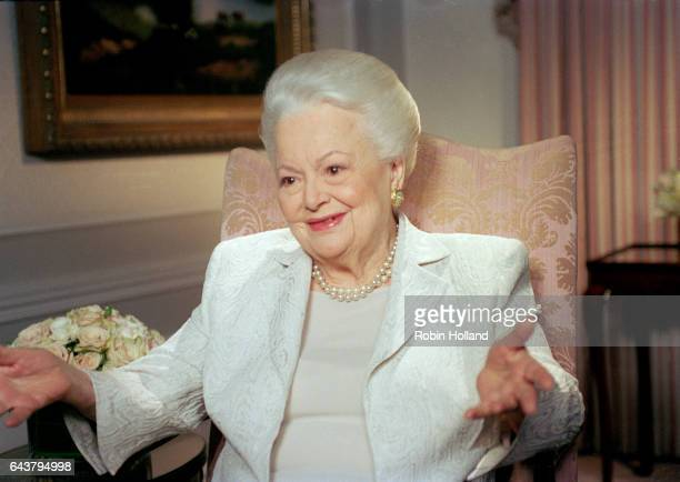 Actress Olivia de Havilland is photographed on April 6 in New York City