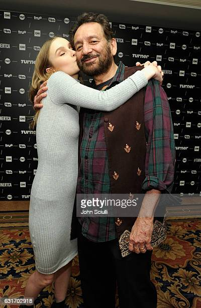 Actress Olivia DeJonge and Executive producer/director Shekhar Kapur of 'Will' pose in the green room during the TCA Turner Winter Press Tour 2017...