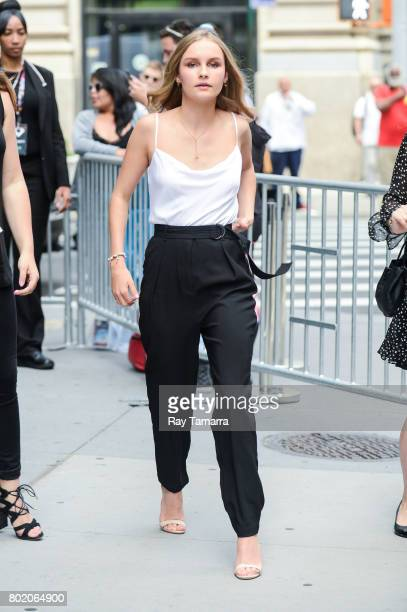 Actress Olivia DeJonge leaves the 'AOL Build' taping at the AOL Studios on June 27 2017 in New York City