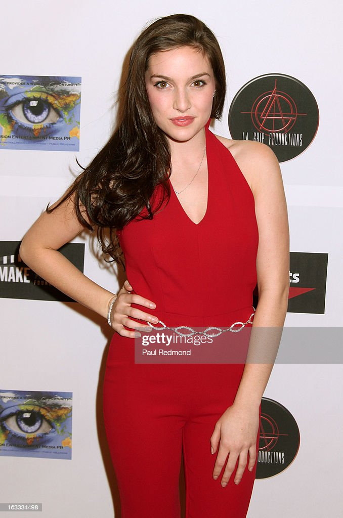 Actress Olivia Faye arrives at Make A Film Foundation's 'Kidz 4 Kidz' Comedy 4 A Cau$e Benefit Show at Writers Guild Theater on March 7, 2013 in Beverly Hills, California.