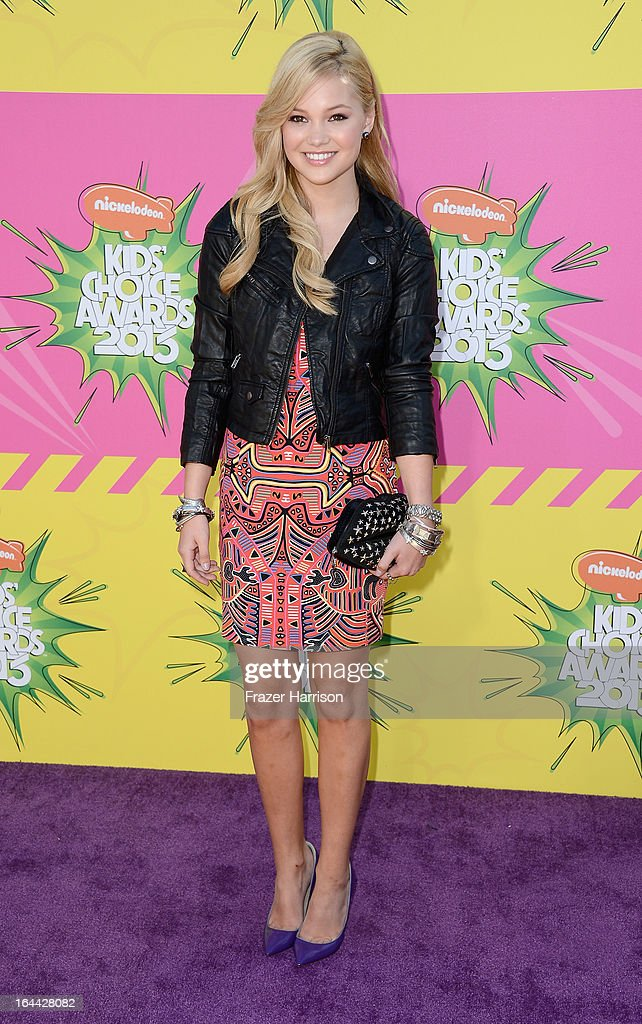 Actress Olivia Holt arrives at Nickelodeon's 26th Annual Kids' Choice Awards at USC Galen Center on March 23, 2013 in Los Angeles, California.