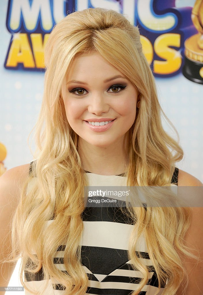 Actress Olivia Holt arrives at the 2013 Radio Disney Music Awards at Nokia Theatre L.A. Live on April 27, 2013 in Los Angeles, California.