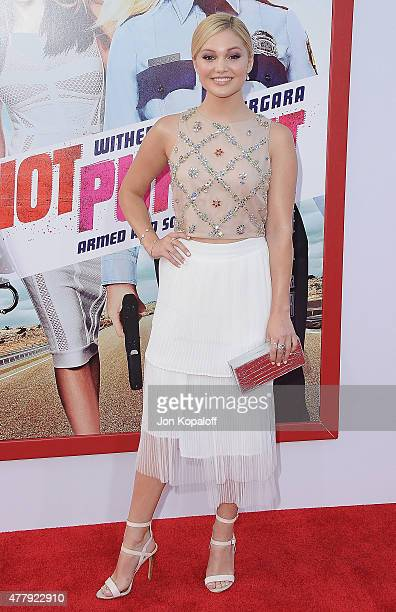 Actress Olivia Holt arrives at the Los Angeles Premiere 'Hot Pursuit' at TCL Chinese Theatre IMAX on April 30 2015 in Hollywood California