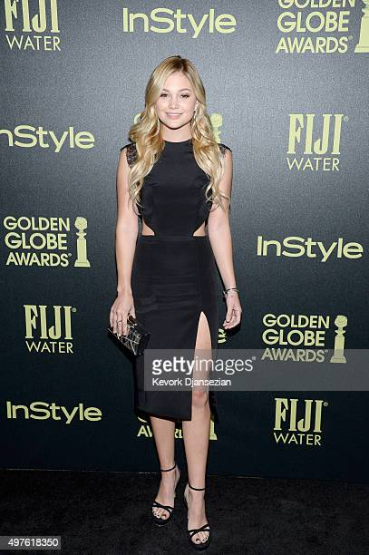 Actress Olivia Holt attends Hollywood Foreign Press Association and InStyle Celebration of The 2016 Golden Globe Award Season at Ysabel on November...