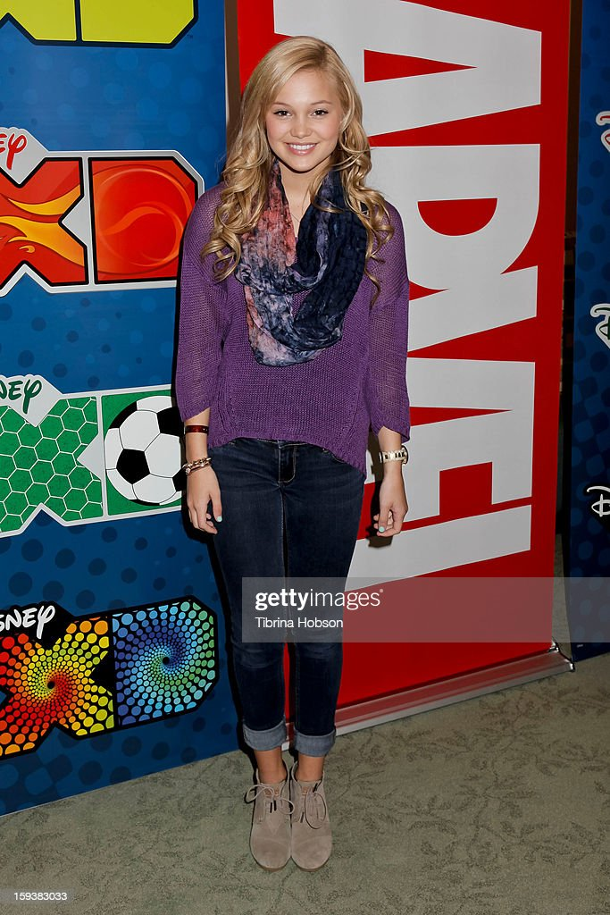 Actress Olivia Holt attends 'Reading With: Marvel Comics Close-Up' kick-off event at the Burbank Public Library on January 12, 2013 in Burbank, California.