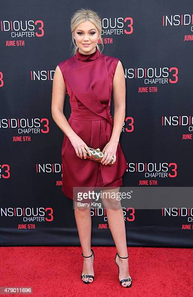 Actress Olivia Holt attends the premiere of Focus Features' 'Insidious Chapter 3' at the TCL Chinese Theatre on June 4 2015 in Hollywood California