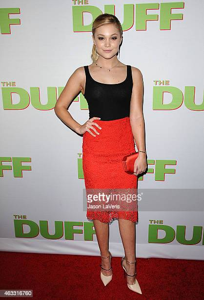 Actress Olivia Holt attends the premiere of 'The Duff' at TCL Chinese 6 Theatres on February 12 2015 in Hollywood California