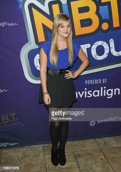 Actress Olivia Holt attends the Radio Disney's 'NBT' season five winner announcements at The Americana at Brand on December 8 2012 in Glendale...