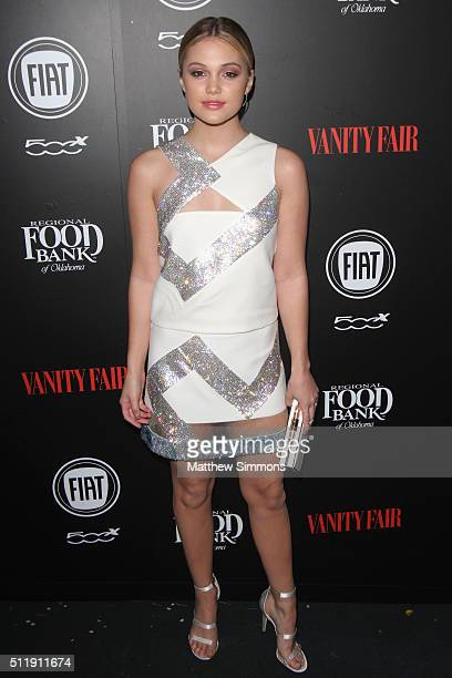 Actress Olivia Holt attends Vanity Fair and FIAT Young Hollywood Celebration at Chateau Marmont on February 23 2016 in Los Angeles California