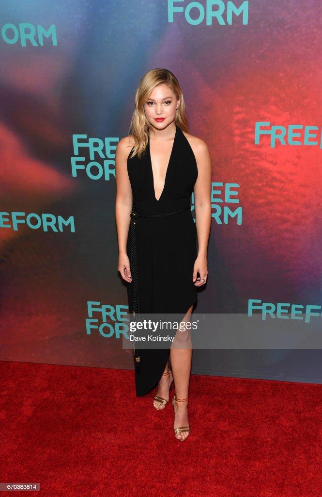 Actress Olivia Holt of 'Marvel's Cloak & Dagger' attends Freeform 2017 Upfront at Hudson Mercantile on April 19, 2017 in New York City.