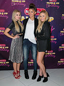 Actress Olivia Holt singer Zendaya and singer Alli Simpson attend Radio Disney's Family VIP Birthday at Club Nokia on November 22 2014 in Los Angeles...