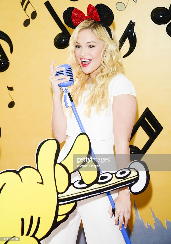 Actress Olivia Holt spotted backstage at Radio Disney Music Awards Minnie's Music Lounge at Nokia Theatre LA Live on April 25 2015 in Los Angeles...