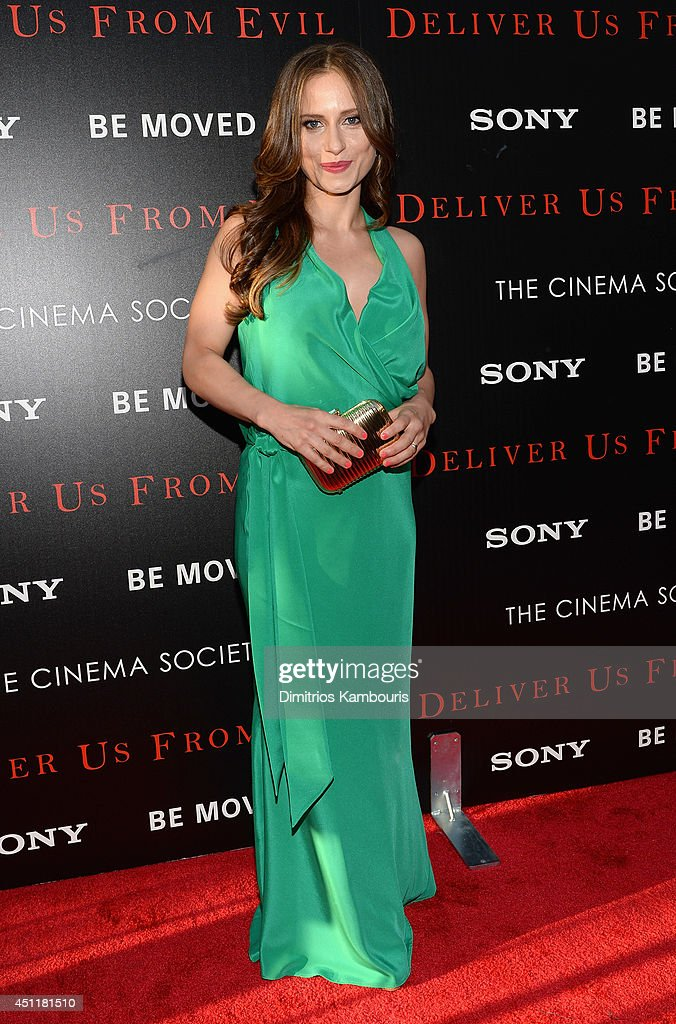 Actress Olivia Horton attends the 'Deliver Us From Evil' screening hosted by Screen Gems & Jerry Bruckheimer Films with The Cinema Society at SVA Theater on June 24, 2014 in New York City.