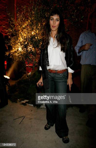 Actress Olivia Magnani attends the 'Galantuomini' party at Officine Farneto during the 3rd Rome International Film Festival on October 27 2008 in...