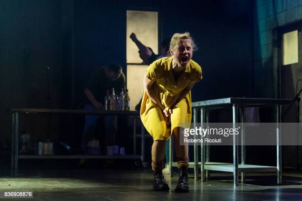 Actress Olivia Morgan performs on stage 'Oresteia This Restless House' during a photo call at Lyceum Theatre as part of the 70th edition of the...