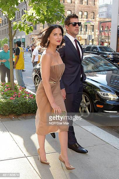 Actress Olivia Munn and Aaron Rodgers are seen on June 24 2014 in New York City