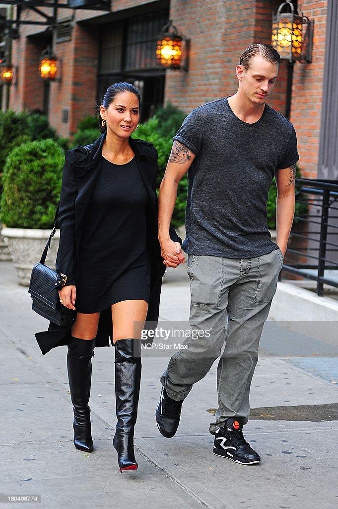 Actress Olivia Munn and Joel Kinnaman are seen on September 12 2013 in New York City.