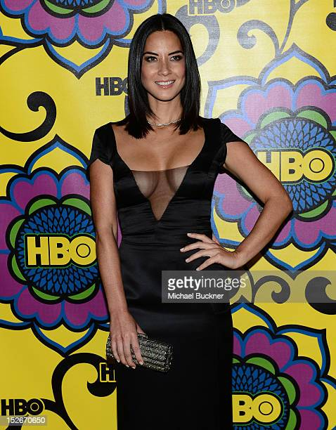 Actress Olivia Munn arrives at HBO's Annual Emmy Awards Post Awards Reception at the Pacific Design Center on September 23 2012 in West Hollywood...