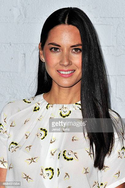 Actress Olivia Munn arrives at Samsung celebrates the launch of Galaxy S 6 and Galaxy S 6 edge at Quixote Studios on April 2 2015 in Los Angeles...