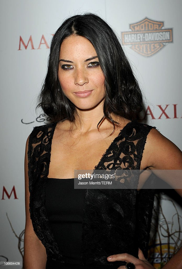 Actress Olivia Munn arrives at the 11th annual Maxim Hot 100 Party with Harley-Davidson, ABSOLUT VODKA, Ed Hardy Fragrances, and ROGAINE held at Paramount Studios on May 19, 2010 in Los Angeles, California.