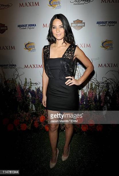 Actress Olivia Munn arrives at the 11th annual Maxim Hot 100 Party with HarleyDavidson ABSOLUT VODKA Ed Hardy Fragrances and ROGAINE held at...