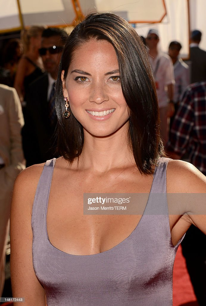 Actress Olivia Munn arrives at the 2012 ESPY Awards at Nokia Theatre L.A. Live on July 11, 2012 in Los Angeles, California.