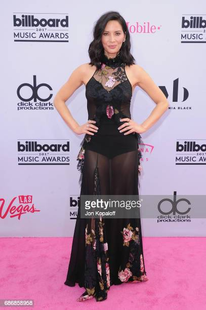 Actress Olivia Munn arrives at the 2017 Billboard Music Awards at TMobile Arena on May 21 2017 in Las Vegas Nevada