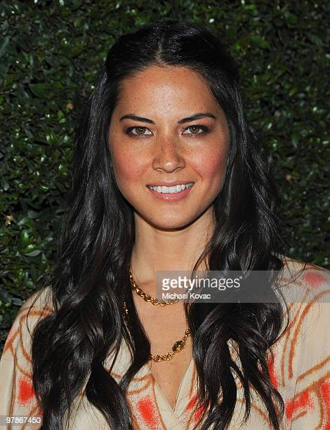 Actress Olivia Munn arrives at the Ferrari 458 Italia Brings Funds for Haiti Relief event at Fleur de Lys on March 18 2010 in Los Angeles California