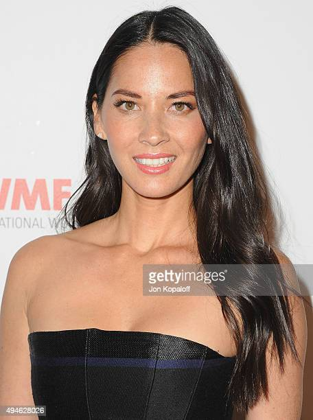 Actress Olivia Munn arrives at the International Women's Media Foundation Courage Awards at the Beverly Wilshire Four Seasons Hotel on October 27...