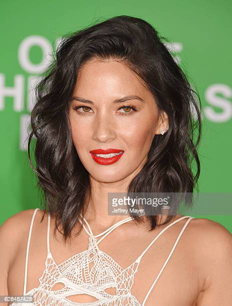 Actress Olivia Munn arrives at the Premiere Of Paramount Pictures' 'Office Christmas Party' at Regency Village Theatre on December 7 2016 in Westwood...