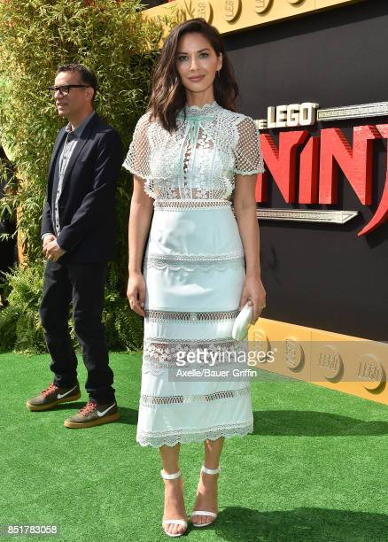 Actress Olivia Munn arrives at the premiere of 'The LEGO Ninjago Movie' at Regency Village Theatre on September 16 2017 in Westwood California