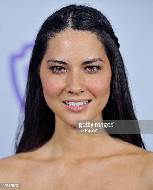 Actress Olivia Munn arrives at the Warner Brothers/InStyle Golden Globes After Party at The Beverly Hilton Hotel on January 17 2010 in Beverly Hills...