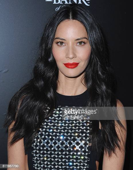 Actress Olivia Munn arrives at Vanity Fair And FIAT Toast To 'Young Hollywood' at Chateau Marmont on February 23 2016 in Los Angeles California