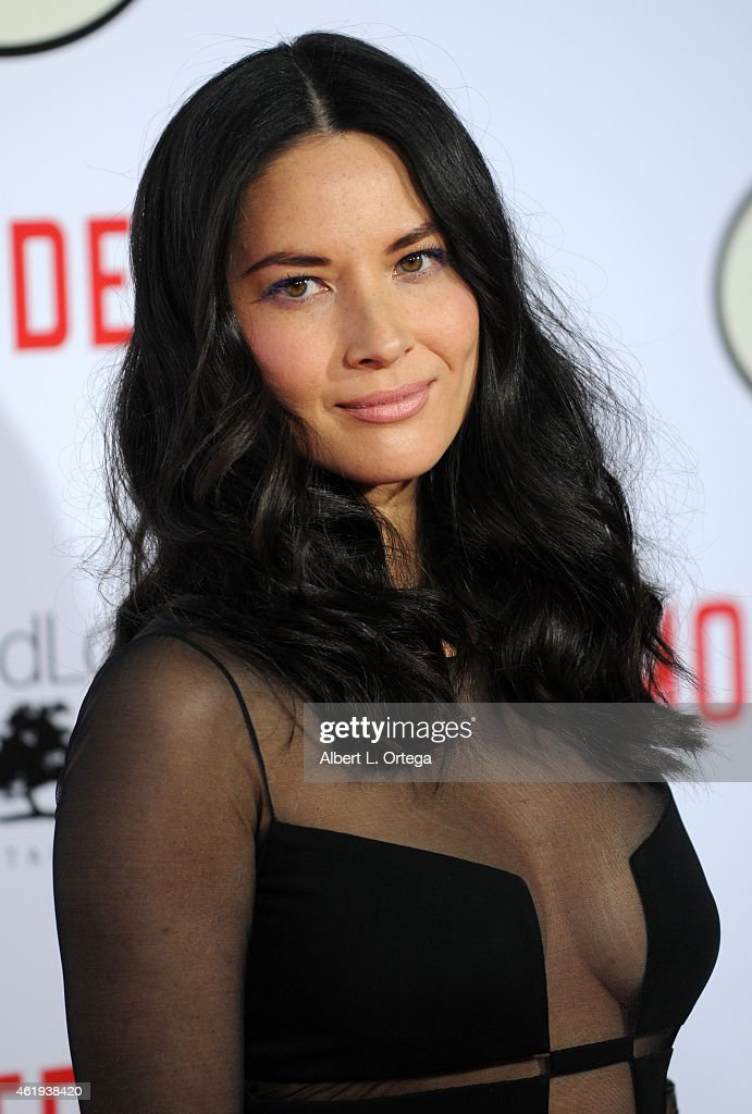 Actress Olivia Munn arrives for the Premiere Of Lionsgate's 'Mortdecai' held at TCL Chinese Theatre on January 21, 2015 in Hollywood, California.