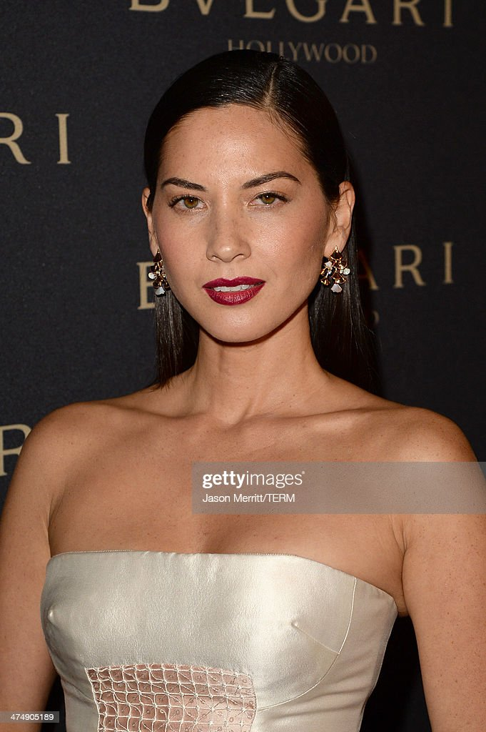 Actress Olivia Munn attends 'Decades of Glamour' presented by BVLGARI on February 25, 2014 in West Hollywood, California.