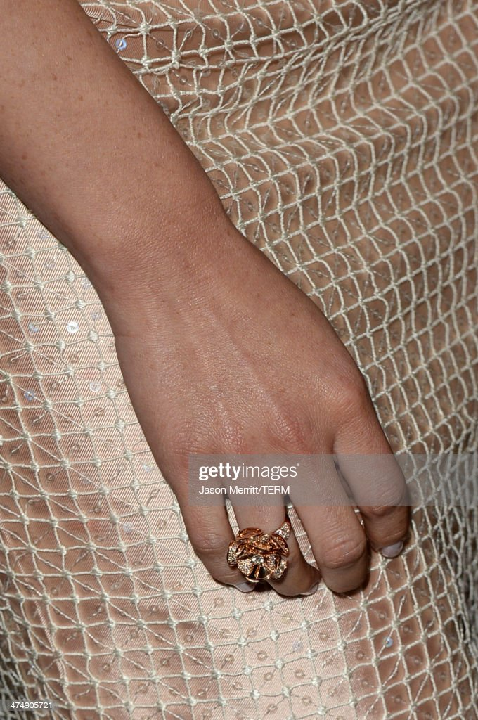 Actress Olivia Munn (fashion detail) attends 'Decades of Glamour' presented by BVLGARI on February 25, 2014 in West Hollywood, California.