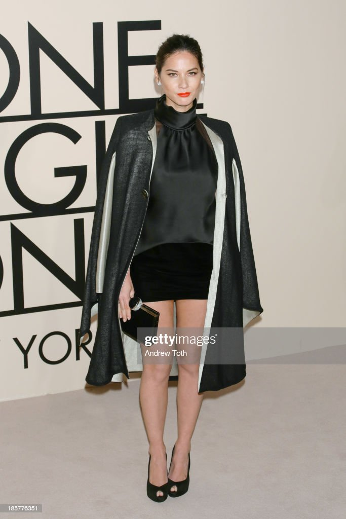 Actress <a gi-track='captionPersonalityLinkClicked' href=/galleries/search?phrase=Olivia+Munn&family=editorial&specificpeople=598969 ng-click='$event.stopPropagation()'>Olivia Munn</a> attends Giorgio Armani - One Night Only New York at SuperPier on October 24, 2013 in New York City.