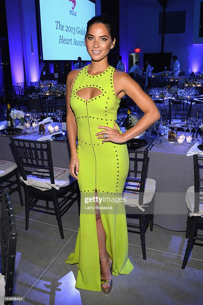 Actress <a gi-track='captionPersonalityLinkClicked' href=/galleries/search?phrase=Olivia+Munn&family=editorial&specificpeople=598969 ng-click='$event.stopPropagation()'>Olivia Munn</a> attends God's Love We Deliver 2013 Golden Heart Awards Celebration at Spring Studios on October 16, 2013 in New York City.