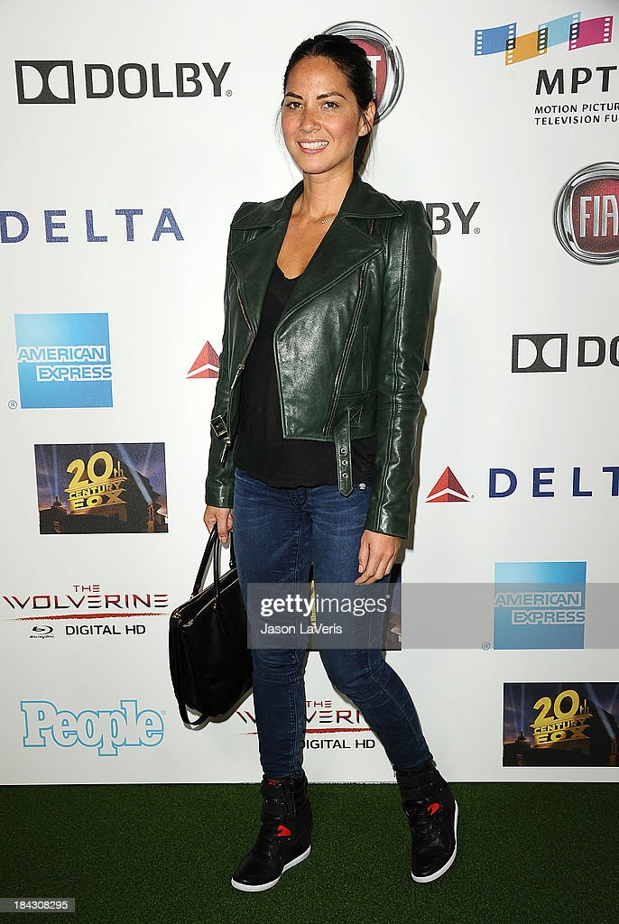 Actress <a gi-track='captionPersonalityLinkClicked' href=/galleries/search?phrase=Olivia+Munn&family=editorial&specificpeople=598969 ng-click='$event.stopPropagation()'>Olivia Munn</a> attends Hugh Jackman's 'One Night Only' benefitting the MPTF (Motion Picture & Television Fund) at Dolby Theatre on October 12, 2013 in Hollywood, California.