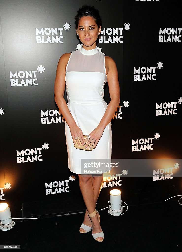 Actress <a gi-track='captionPersonalityLinkClicked' href=/galleries/search?phrase=Olivia+Munn&family=editorial&specificpeople=598969 ng-click='$event.stopPropagation()'>Olivia Munn</a> attends Montblanc celebrates Madison Avenue Boutique Opening at Montblanc Boutique on Madison Avenue on October 22, 2013 in New York City.