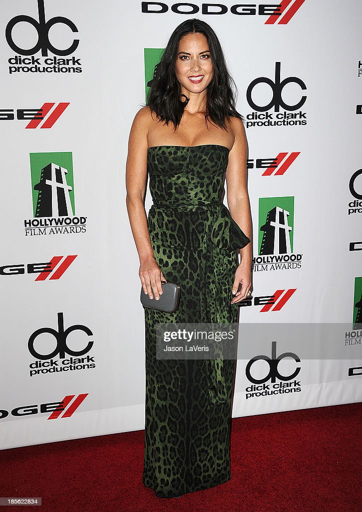 Actress Olivia Munn attends the 17th annual Hollywood Film Awards at The Beverly Hilton Hotel on October 21, 2013 in Beverly Hills, California.