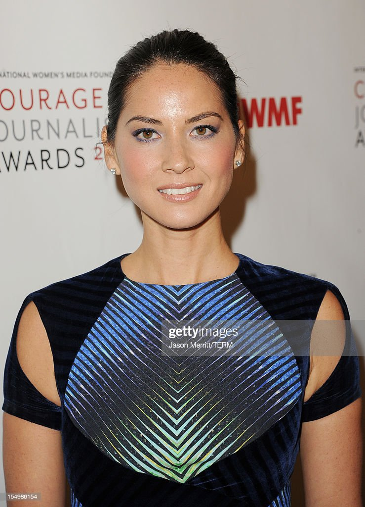 Actress Olivia Munn attends the 2012 Courage in Journalism Awards hosted by the International Women's Media Foundation held at the Beverly Hills Hotel on October 29, 2012 in Beverly Hills, California.