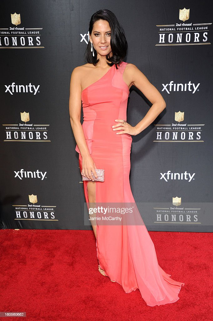 Actress Olivia Munn attends the 2nd Annual NFL Honors at Mahalia Jackson Theater on February 2, 2013 in New Orleans, Louisiana.