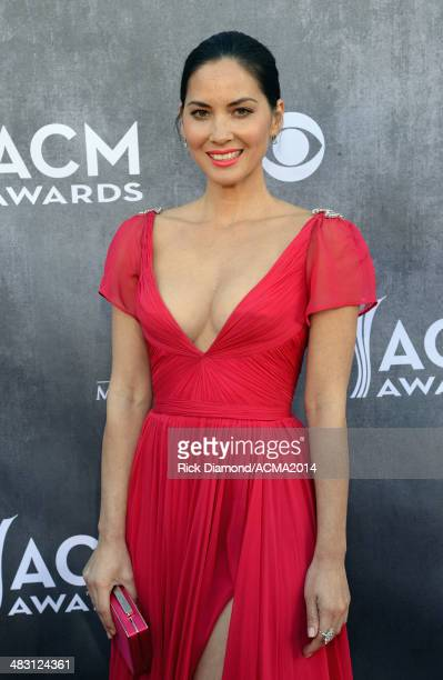 Actress Olivia Munn attends the 49th Annual Academy of Country Music Awards at the MGM Grand Garden Arena on April 6 2014 in Las Vegas Nevada