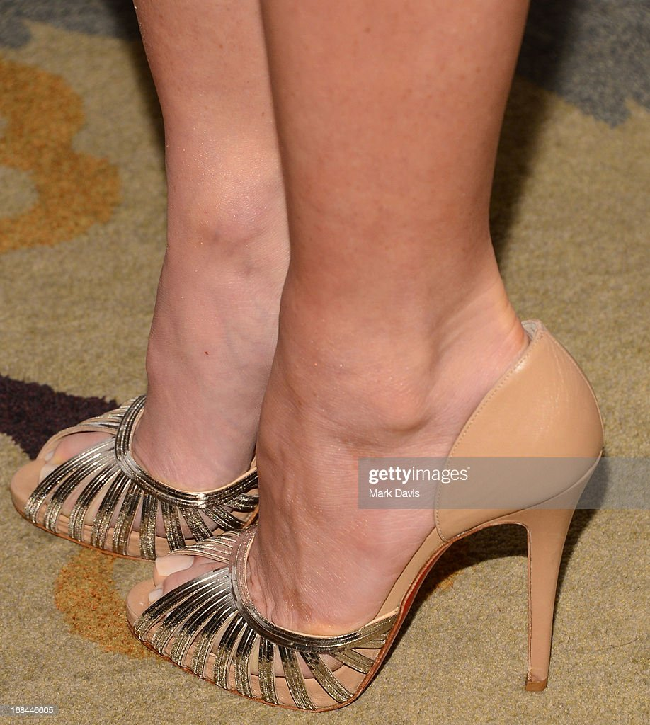 Actress Olivia Munn (shoe detail) attends the '6th Annual Television Academy Honors' held at the Beverly Hills Hotel on May 9, 2013 in Beverly Hills, California.