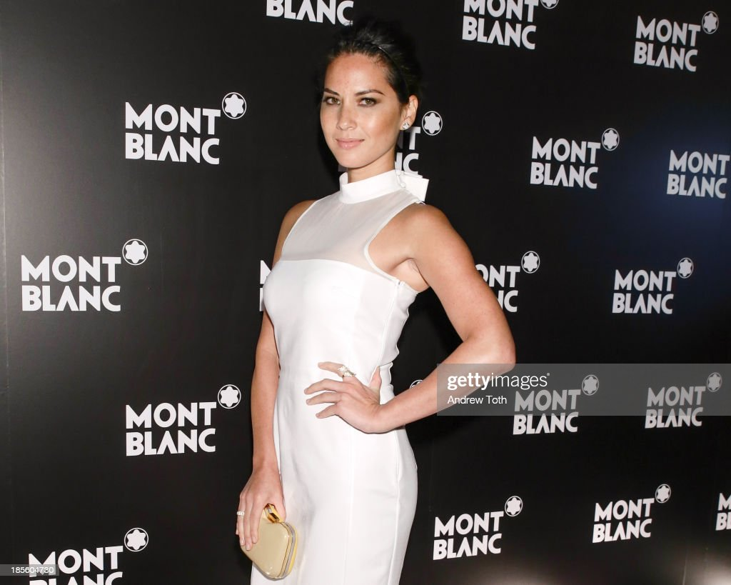Actress <a gi-track='captionPersonalityLinkClicked' href=/galleries/search?phrase=Olivia+Munn&family=editorial&specificpeople=598969 ng-click='$event.stopPropagation()'>Olivia Munn</a> attends the Montblanc Madison Avenue store opening on October 22, 2013 in New York City.