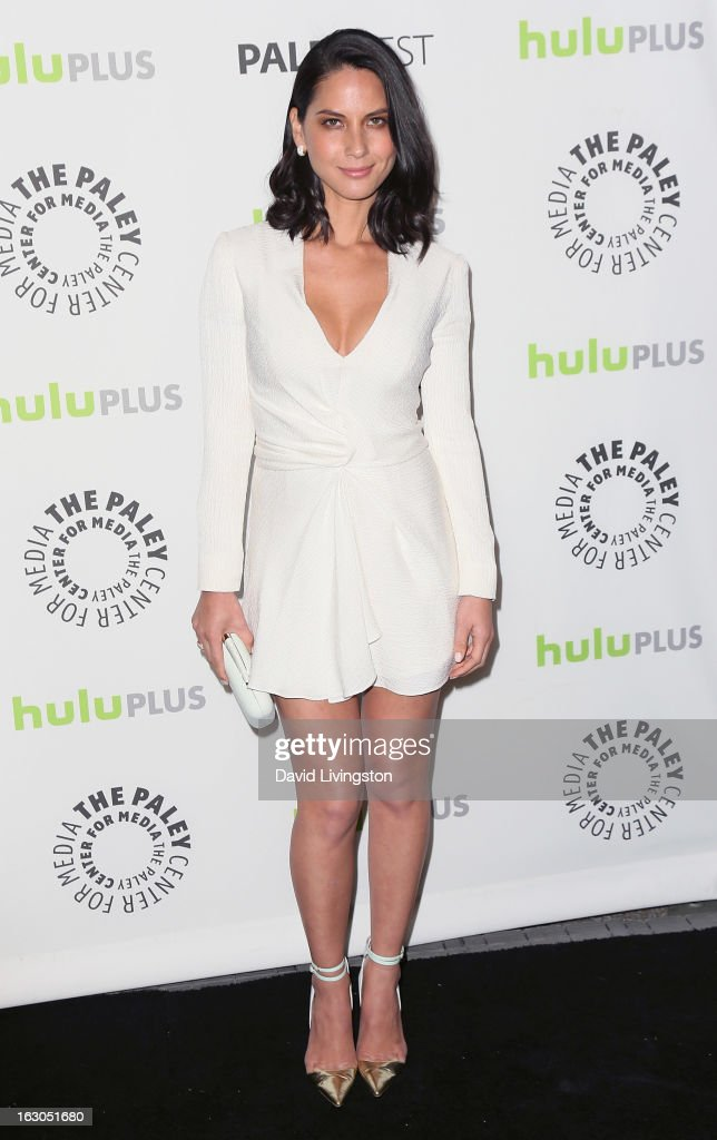 Actress <a gi-track='captionPersonalityLinkClicked' href=/galleries/search?phrase=Olivia+Munn&family=editorial&specificpeople=598969 ng-click='$event.stopPropagation()'>Olivia Munn</a> attends The Paley Center For Media's PaleyFest 2013 honoring 'The Newsroom' at the Saban Theatre on March 3, 2013 in Beverly Hills, California.