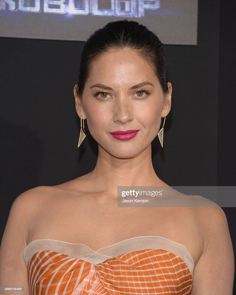 Actress Olivia Munn attends the premiere of Columbia Pictures' 'Robocop' on February 10, 2014 in Hollywood, California.