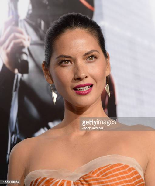 Actress Olivia Munn attends the premiere of Columbia Pictures' 'Robocop' on February 10 2014 in Hollywood California